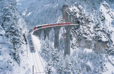 Landwasser Viadukt Schnee_Foto_Swiss Travell