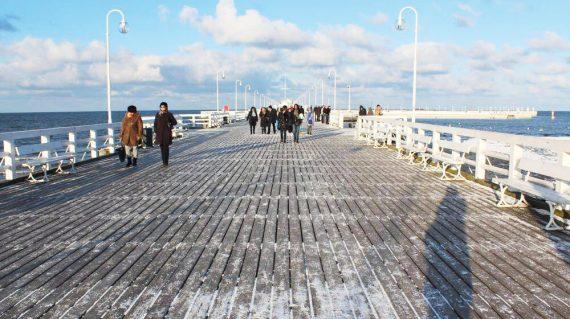 Seebad Soppot im Winter